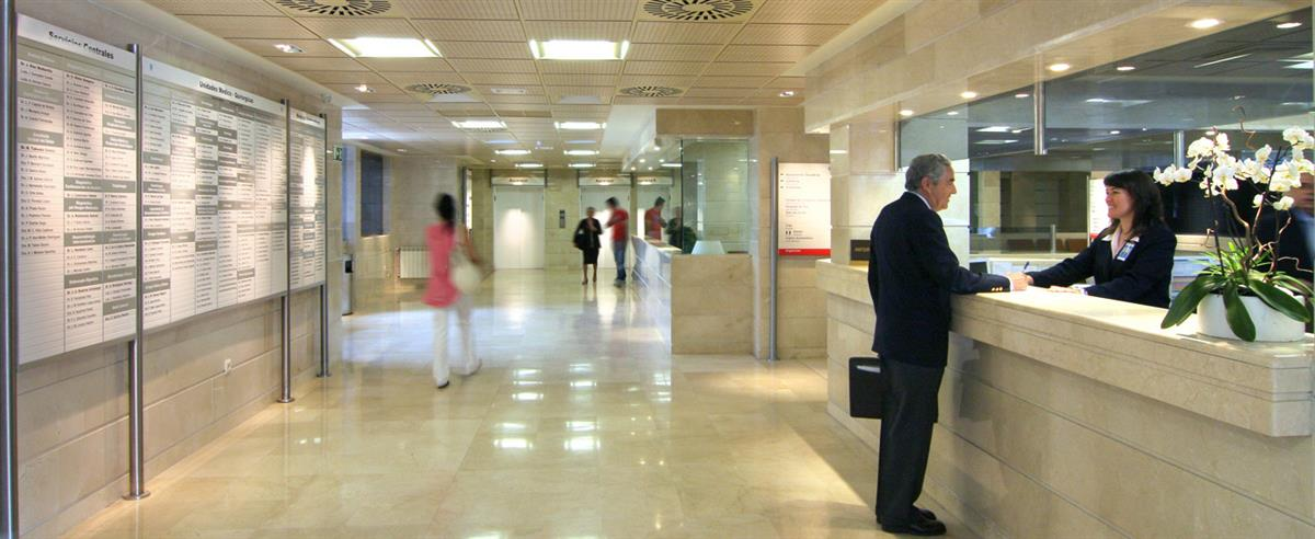 Reception Area - Hospital Ruber Internacional